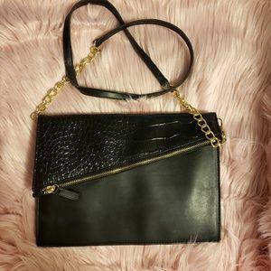 Handbags - cute black cross body bag/clutch